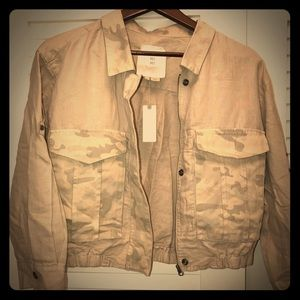 Anthropologie, HEI HEI Camoflage Jacket Tan M